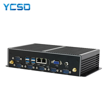 Ycsd Fanless Industriële Mini Pc Win10 Core I7 5500U 2 * Intel Gigabit Lan 'S 6 * RS232 8 * Usb micro Computer Linux Wifi Hdmi Windows Pc