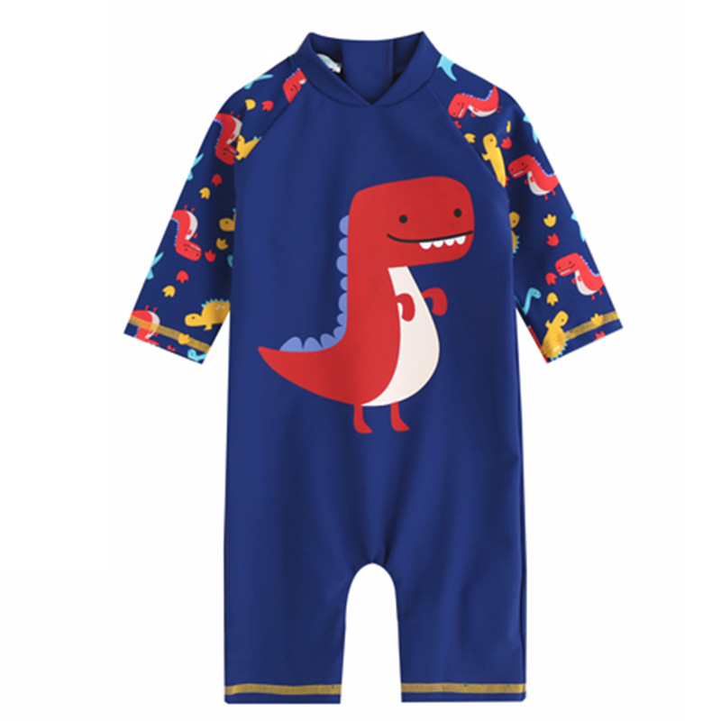 New Style Bathing Suit One-piece Swimsuit For Children BOY'S Cartoon Sun-resistant Surfing Jumpsuit Set Small CHILDREN'S Outdoor