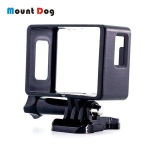 Image 1 - Mountaintdog ل EKEN H9R SJCAM SJ4000 عمل كاميرا الغلاف الواقي إطار الحدود قذيفة جبل الغلاف