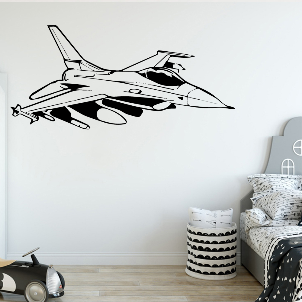 Artistic airplane Wallpaper Home Decoration Wall Sticker For Home Decor Living Room Bedroom Wall Stickers Waterproof Wallpaper image