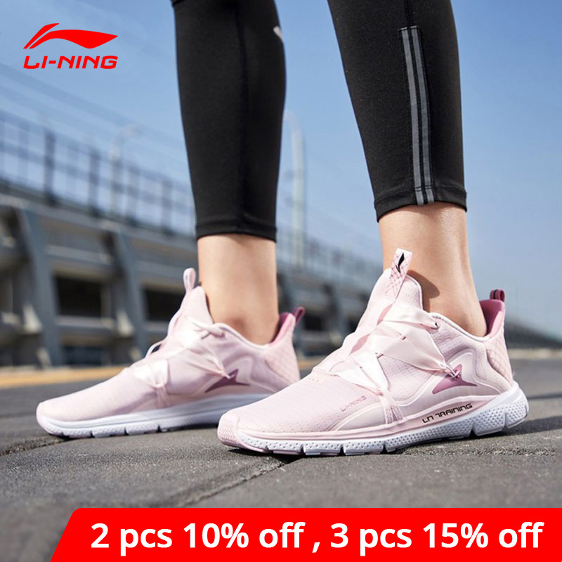 Li-Ning Women JING HONG Training Shoes Light Weight Free Flexible LiNing Li Ning Comfort Breathable Sport Shoes AFHP014 YXX055