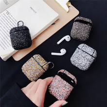 Free Shipping Sexy Glitter Sequins Bling Hard Protection Wireless Earphone Charging Case For AirPods 1 2 Bluetooth Headset Cover