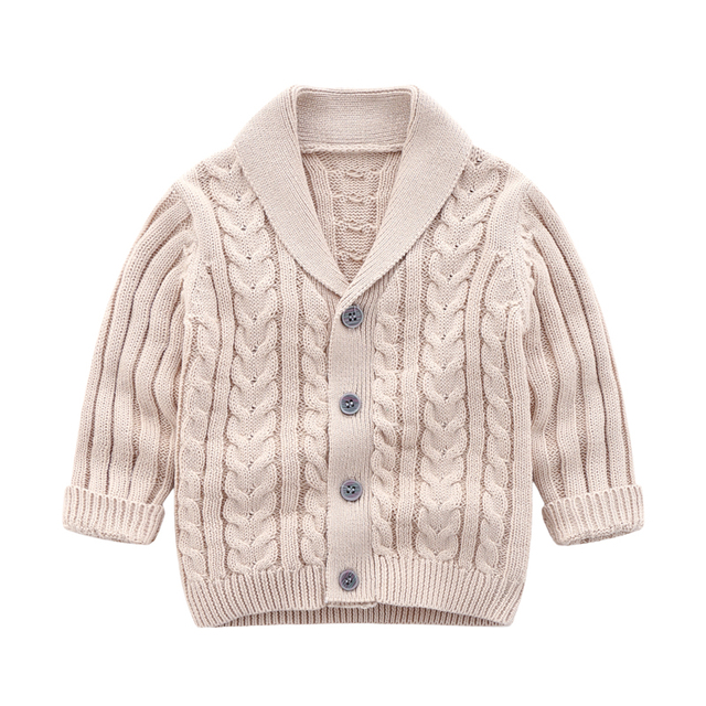 lioraitiin 0-3Years Autumn Winter Children Cardigan Coat Boy Girls Knitted Sweaters Cotton Baby Single-Breasted Jacket 4
