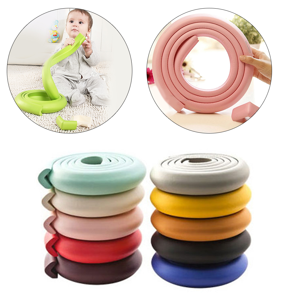 2M Table Desk Corner Protector Coloful Baby Safety Table Protector Children Protection Baby Proof Edge Guard Soft Corner Cover