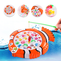 Beiens Colourful Baby Early Educational Fish Toy Plastic Magnetic Fishing Toys Set Game Kids Gifts For Kids Children Outdoor