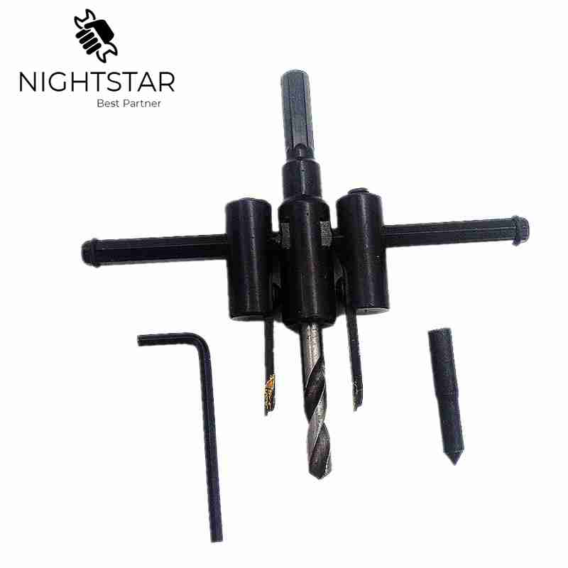 Krachtige Adjustable Circle Cutter Drill Bit Kit Metal Wood Twist Hole DIY Woodworking Tools 30-120mm /Regular Version