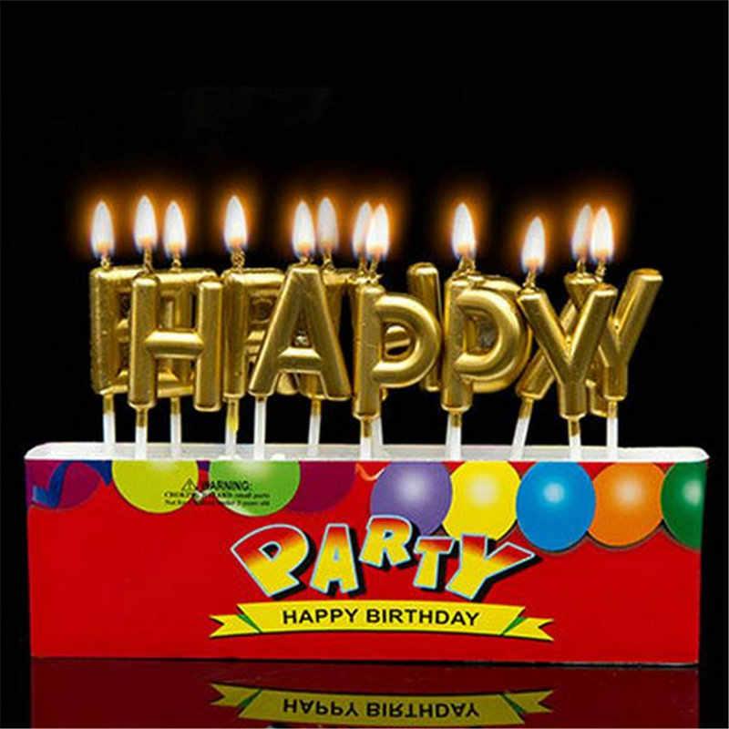1 Buah Huruf Lucu Cinta Emas Selamat Ulang Tahun Lilin Kue Ulang Tahun Bayi Pesta Festival Lilin Untuk Dekorasi Kue Supply Aliexpress