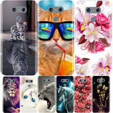 Telefoon Geval Voor LG G6 Zachte Siliconen TPU Leuke Kat Painted Achterkant Voor LG G6 G600 H870 H871 H872 h873 Case(China)