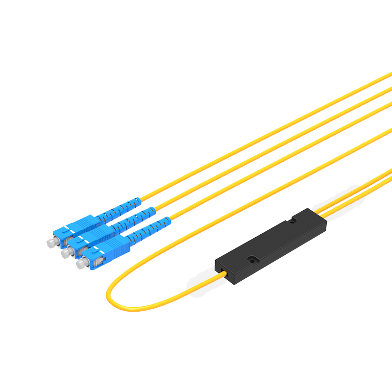 10 Pcs SC/APC 1x2 PLC Fiber Optical Splitter Mini Module SC/SC FTTH  Fibre Splitter SC Single Mode Optic Splitter Box