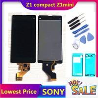 4.3 polegada original da tela de toque para sony xperia z1 compacto d5503 m51w 4.3 polegada display lcd digitador sensor montagem do painel vidro