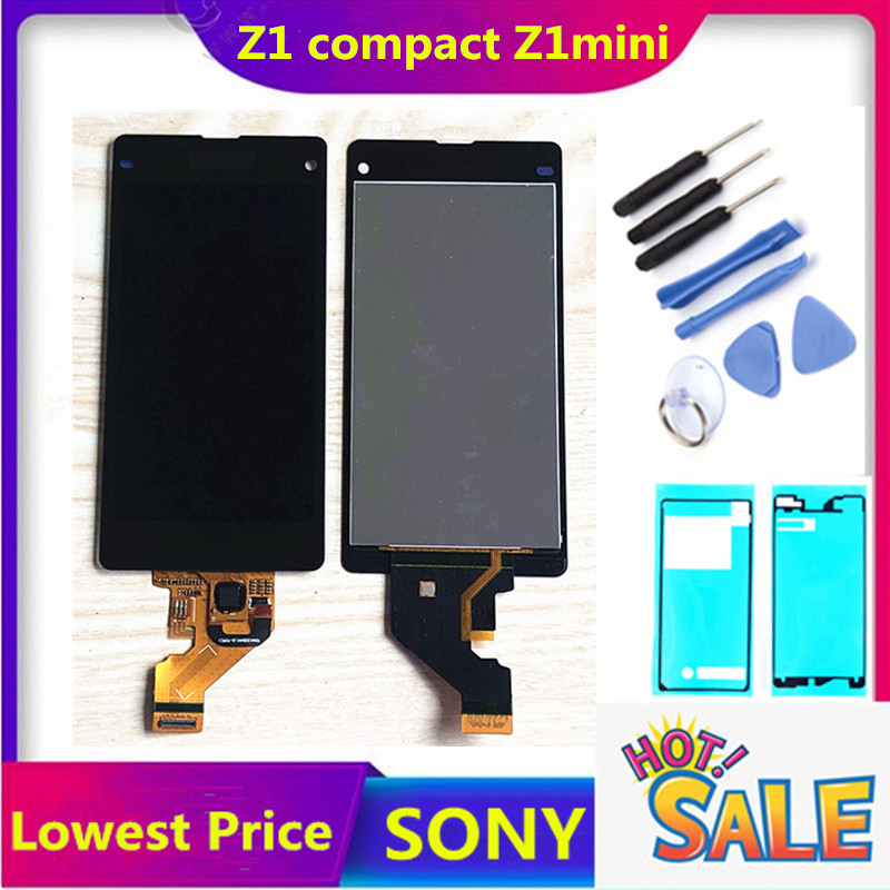 4,3 zoll Original Touch Screen Für <font><b>Sony</b></font> <font><b>Xperia</b></font> <font><b>Z1</b></font> Kompakte D5503 M51w 4,3 inch LCD Display Digitizer Sensor Glas Panel montage image