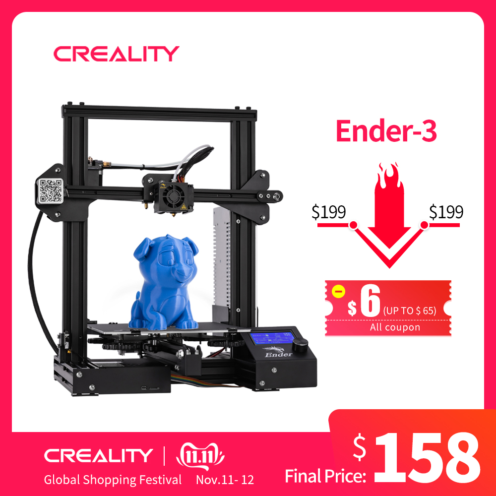 Newest Full Metal Ender 3/Ender 3X/Ender 3PRO CREALITY 3D Printer Open Source 3D Printer With Removable Build Surface-in 3D Printers from Computer & Office