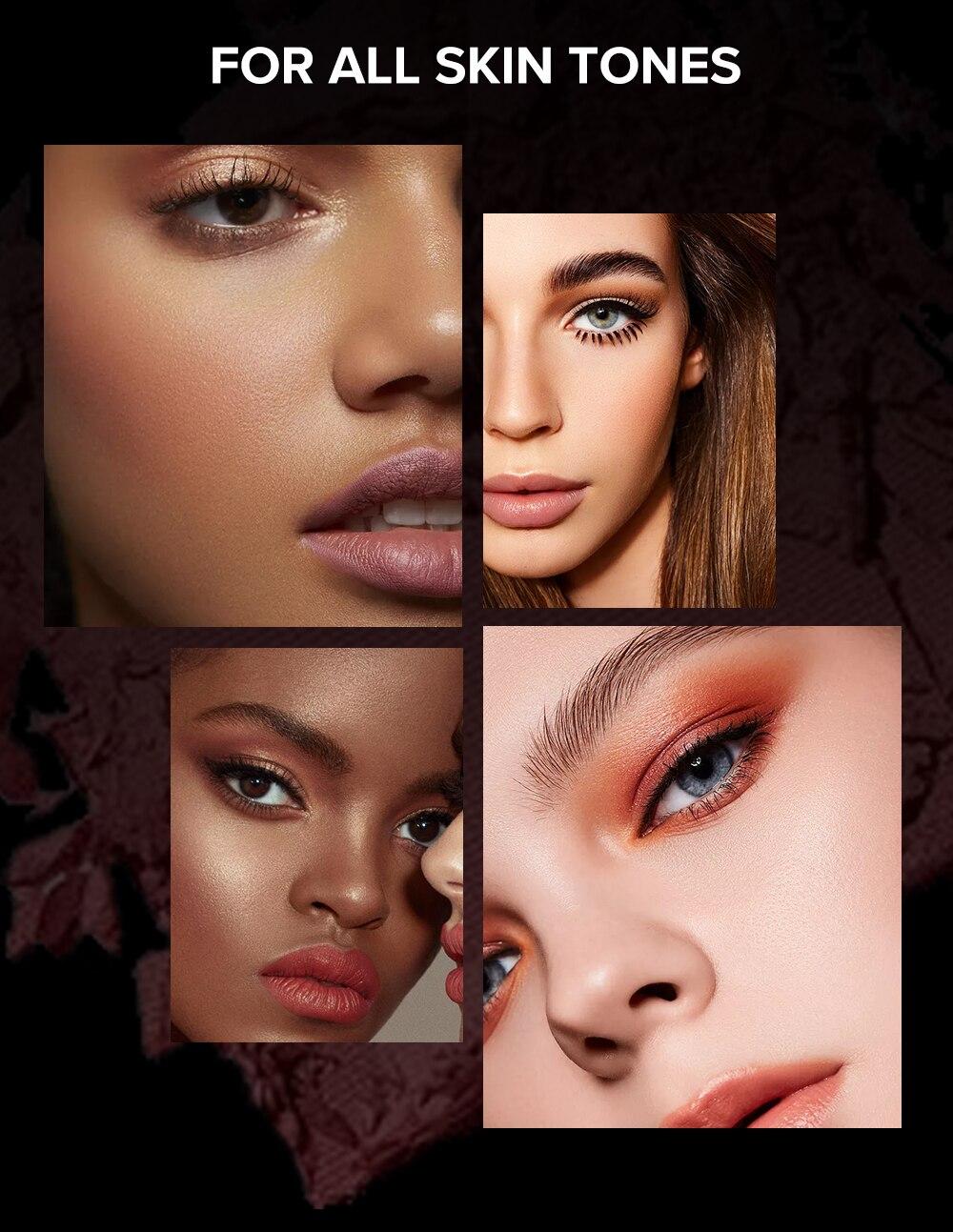 shimmer maquiagem nude olhos tons pallete natural