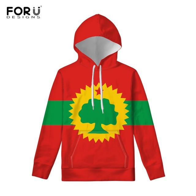 FORUDESIGNS Spring Mens Hoodies Sweatshirt for Women Funny Flag of the Oromo People (Oromoo) Print Casual Hoodie Streatwear