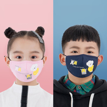 1Pcs Mouth Mask Children Kids Thicken Cotton Face Mouth Mask Anti Dust Pollution PM2.5 Mask Cute Bear Cartoon Animal Mask