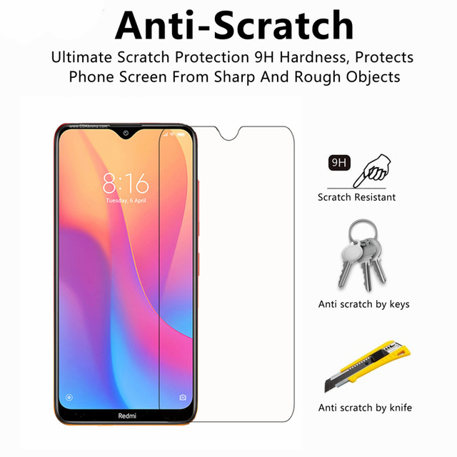 2pcs Phone Glass for Xiaomi Redmi 8A Screen Protector Tempered Glass for Xiaomi Redmi 8A Glass Xiaomi Redmi 8A Anti-scratch Film