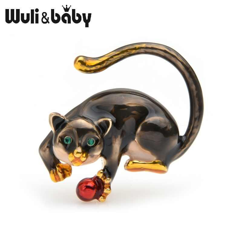 Wuli & Esmalte bebê Macaco lemur Animal Pinos Broche Broche Crachá Acessórios Homens Jóias Presente