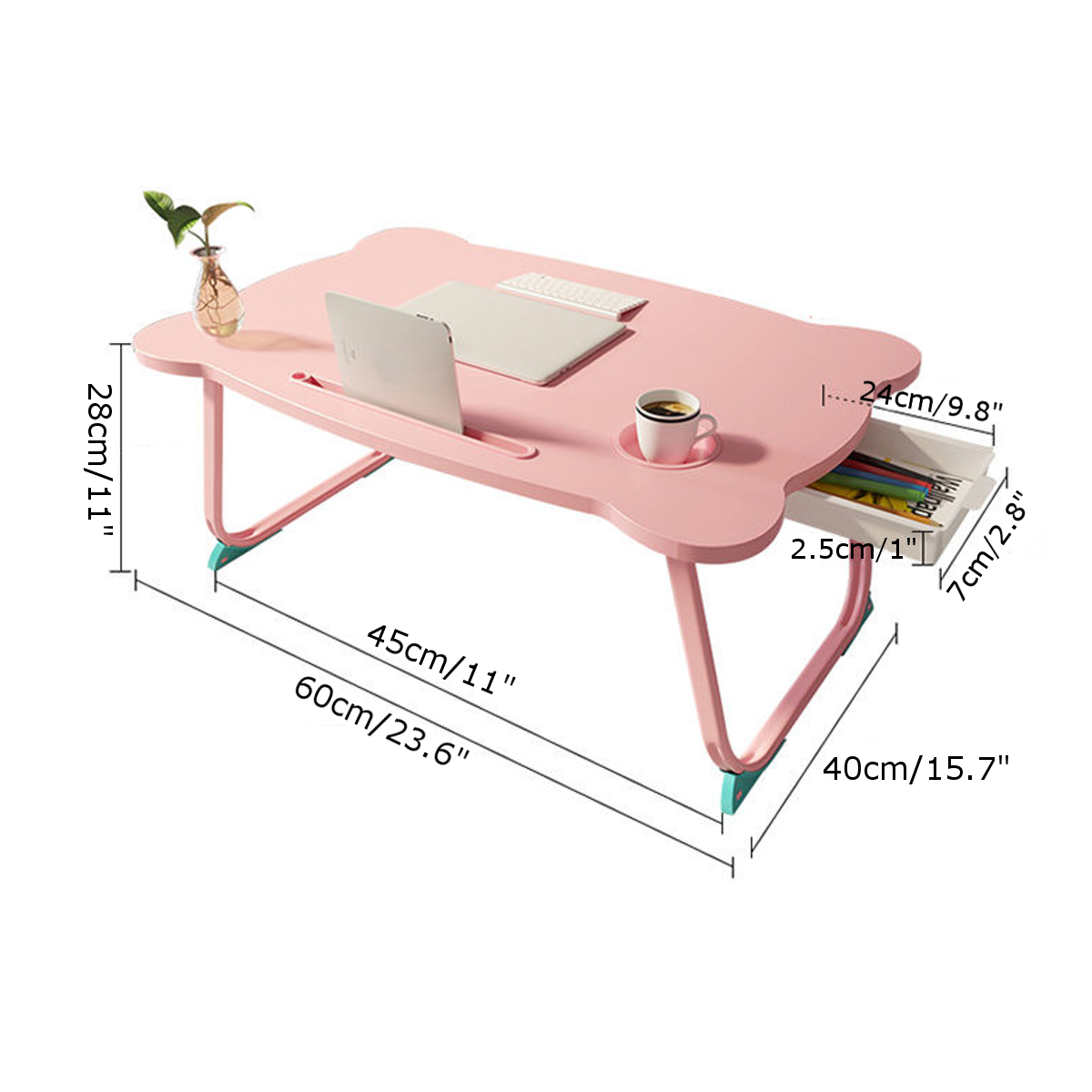 Study Table Desk Multi-functional Folding Laptop Stand Holder Wooden Foldable Computer Desk for Bed Sofa Tea Serving Table Stand