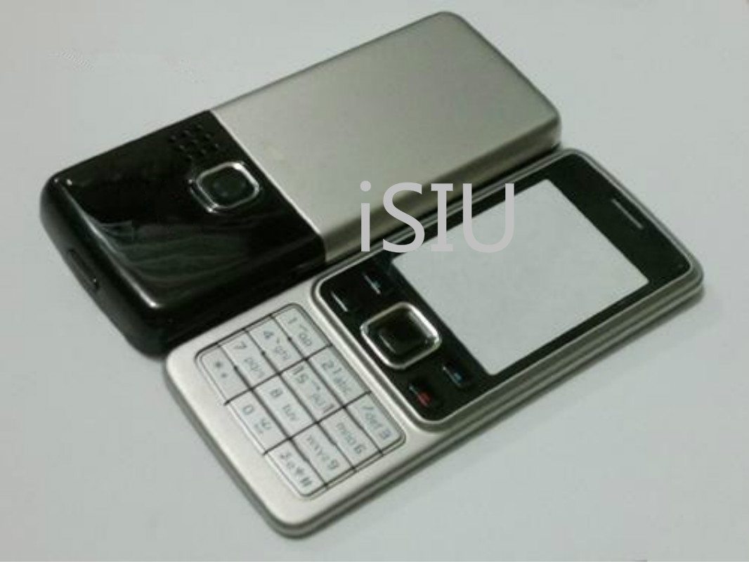 Full <font><b>Housing</b></font> For <font><b>Nokia</b></font> <font><b>6300</b></font> Battery Cover <font><b>6300</b></font> Rear Case Middle Frame Keyboard Button English Keypad Replacement Parts image
