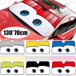 6 kolorów oczy kształt osłona przeciwsłoneczna do samochodu podgrzewana szyba Cartoon pokrowiec na przednią szybę w samochodzie samochodowa osłona przeciwsłoneczna pokrowce samochodowe ochrona przeciwsłoneczna samochodu