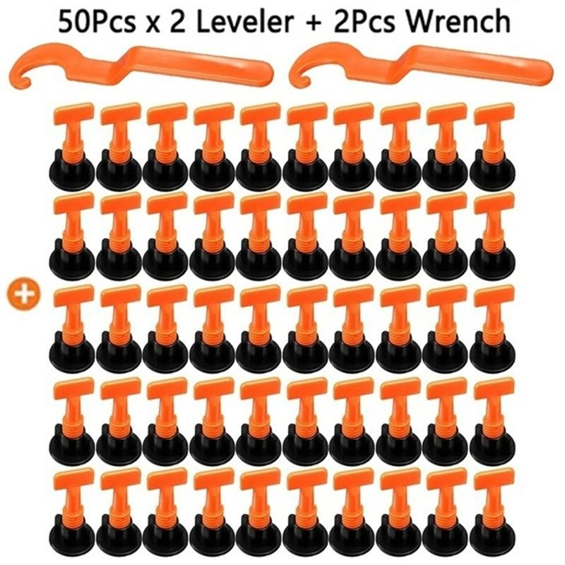 50PCS Tile Leveling System Toolkit Level Wedges Alignment Spacers For Leveler Locator Spacers Plier Flooring Wall Tile Carrelage
