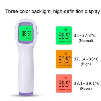 Frontale Senza contatto Termometro Infrarojo Digitale Indicatore di Temperatura del Termometro Laser A infrarossi Ir Corpo termómetro infrarossi calibro