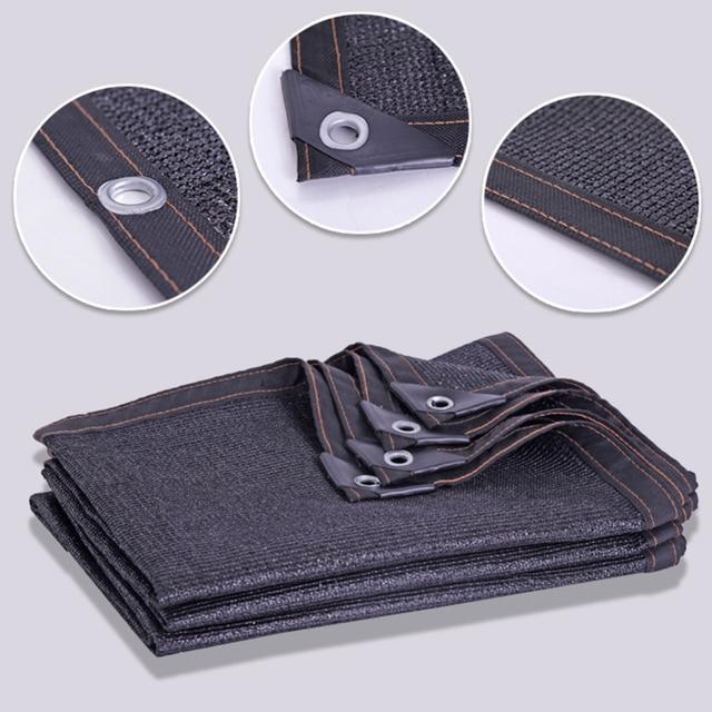 Sunblock Shade Cloth Net Black Uv Resistant Garden Shade Mesh Tarp For Greenhouse Plant Flower Hade Net Shading Rate 65%-75%