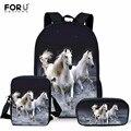 Детская школьная сумка  3 шт.  для малышей  с принтом лошади  детская школьная сумка  сумка на плечо  для девочек  для детского сада  сумки для к...