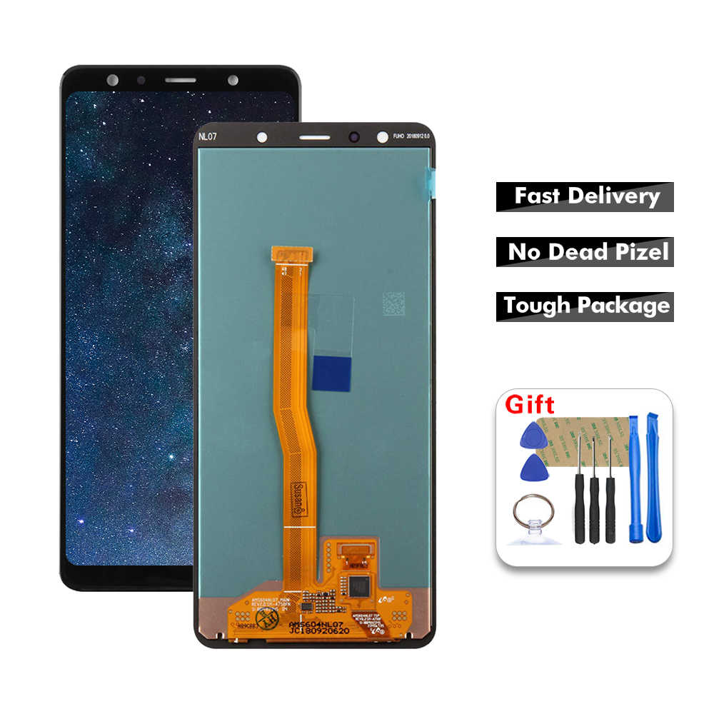 AAA Качество 100% Тесты для samsung Galaxy A7 2018 A750 A750F SM-A750F A750FN Дисплей кодирующий преобразователь сенсорного экрана в сборе Замена