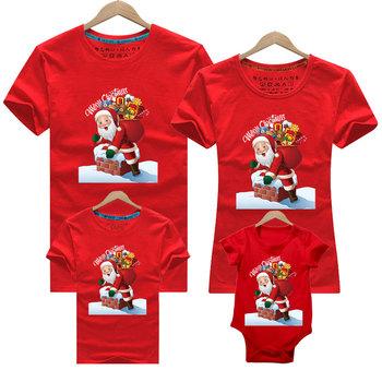 Boże narodzenie nowy rok koszulki świąteczne rodzinne stroje tata mama i ja ojciec matka córka syn stroje rodzina pasujące ubrania tanie i dobre opinie YSUBEST Damsko-męskie 7-12m 13-24m 25-36m 4-6y 7-12y 12 + y COTTON CN (pochodzenie) CZTERY PORY ROKU moda SHORT Dobrze pasuje do rozmiaru wybierz swój normalny rozmiar
