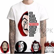 New T Shirt Men Funny Design La Casa De Papel Tshirt Money H