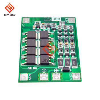 BMS 3S 4S 25A 30A 40A 60A 18650 Li-ion Lithium Battery Charger pcb module Protection Board 11.1/12.6/14.8/16.8V Balance/Enhance image