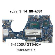 NM-A381 Laptop motherboard für Lenovo YOGA3-14 mainboard original I5-5200U GT940M 100% test ok(China)