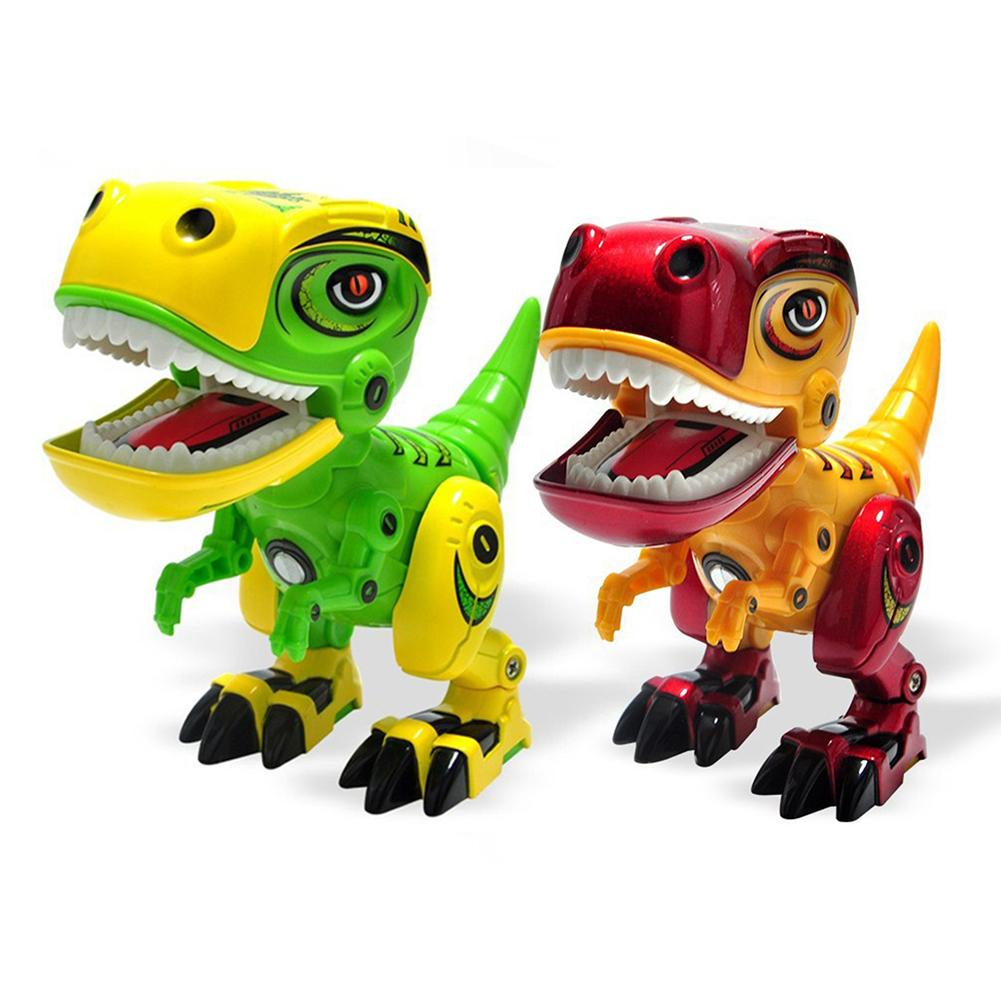 Alloy Electronic Dinosaur Eyes Glow Robot The Roar Of A Dinosaur Jiont Rotation Interactive Educational Animal Toys For Children