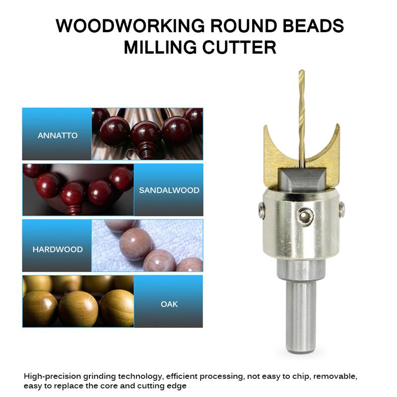 4pc Buddha Beads Solid Carbide Ball Cutter Woodworking Tools Wooden Beads 6-12mm