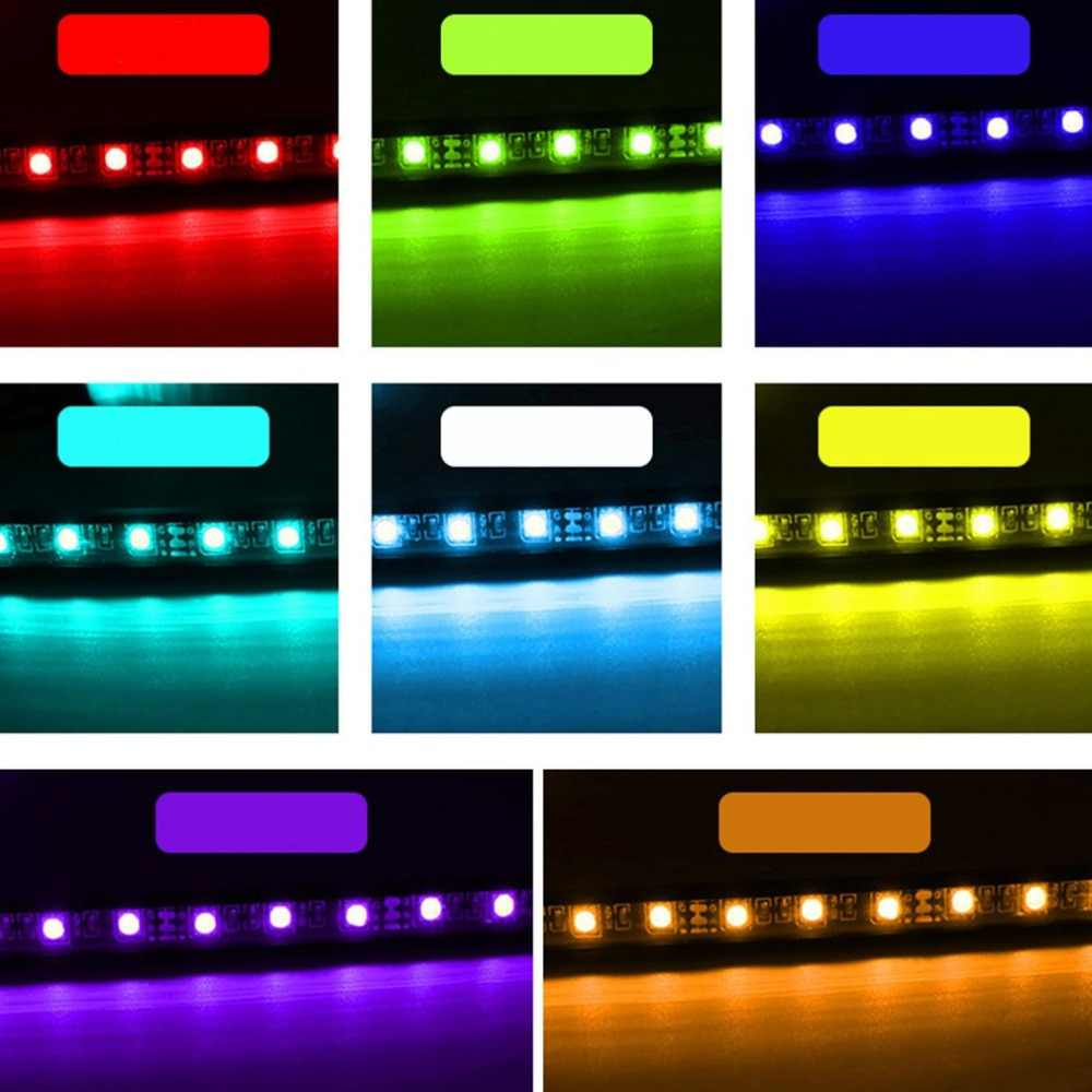 4-in-1 RGB Colorful Luce Bar 9LED Ambiente Luce Car Interior Luce Decorativa Piede Ben Chiaro Con a distanza di Controllo