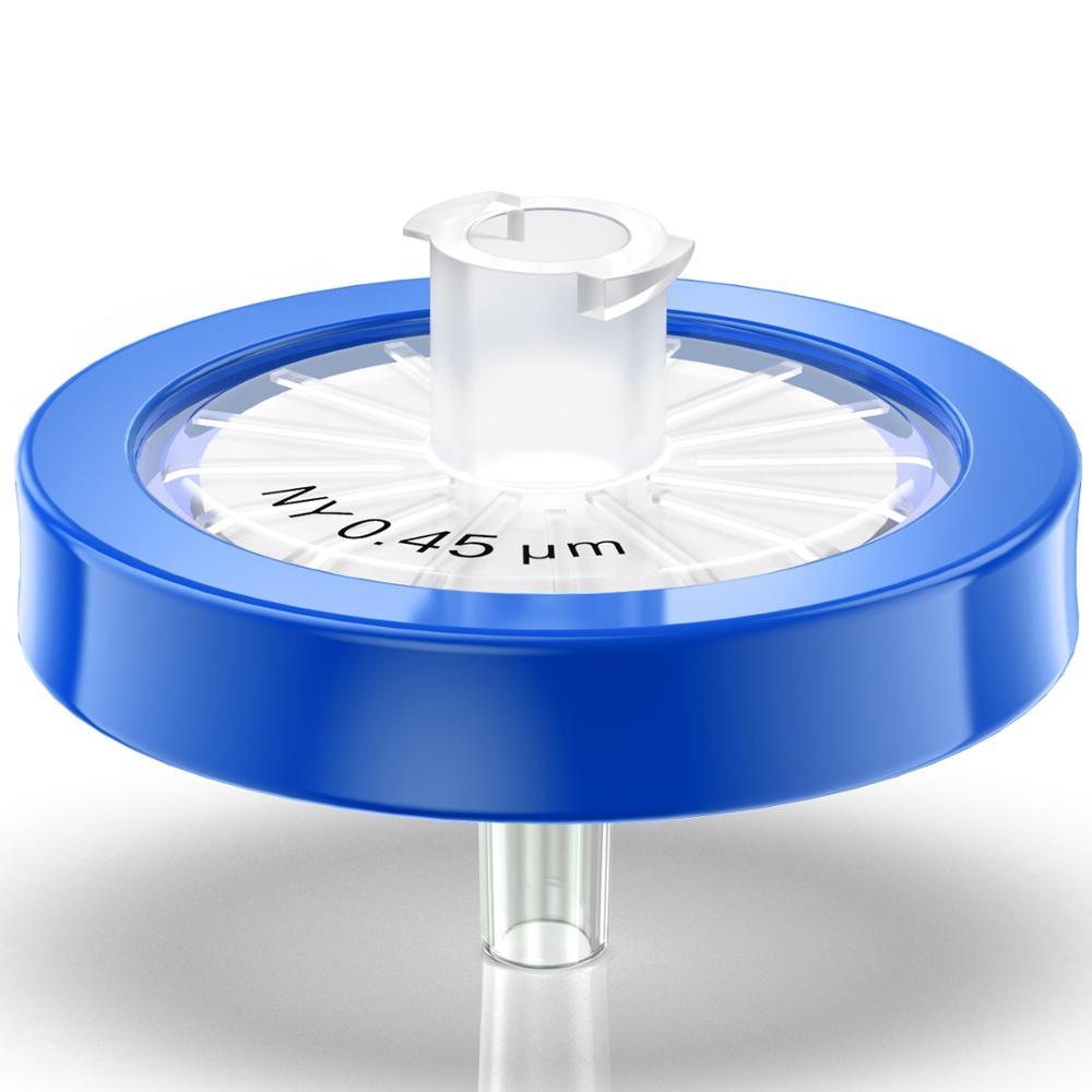 filtros da seringa tamanho do poro da membrana 0 45m m do nailon diametro de 25mm