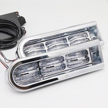 LED Inserts Saddlebag Filler Support Turn Lights Taillight Running Light For Harley Touring Electra Glide Road King 2014-2017