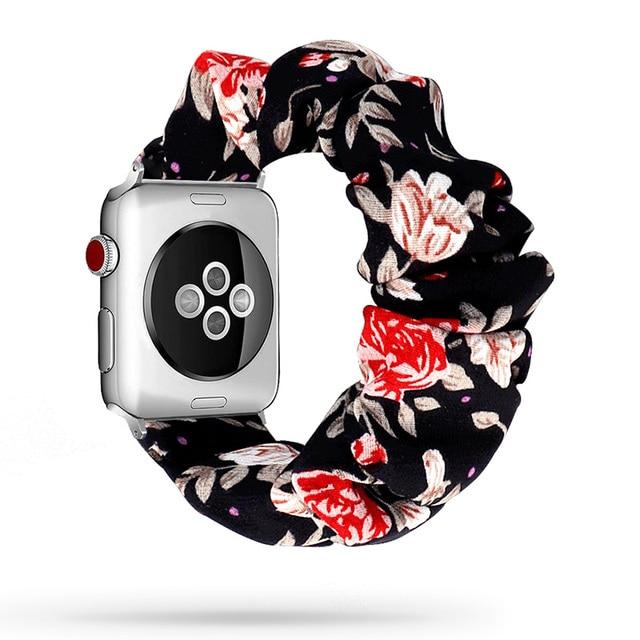 Scrunchie Elastic Watch Straps Watchband for Apple Watch Band Series 6 5 4 3 38mm 40mm 42mm 44mm for iwatch Strap Bracelet 6 5 4 6