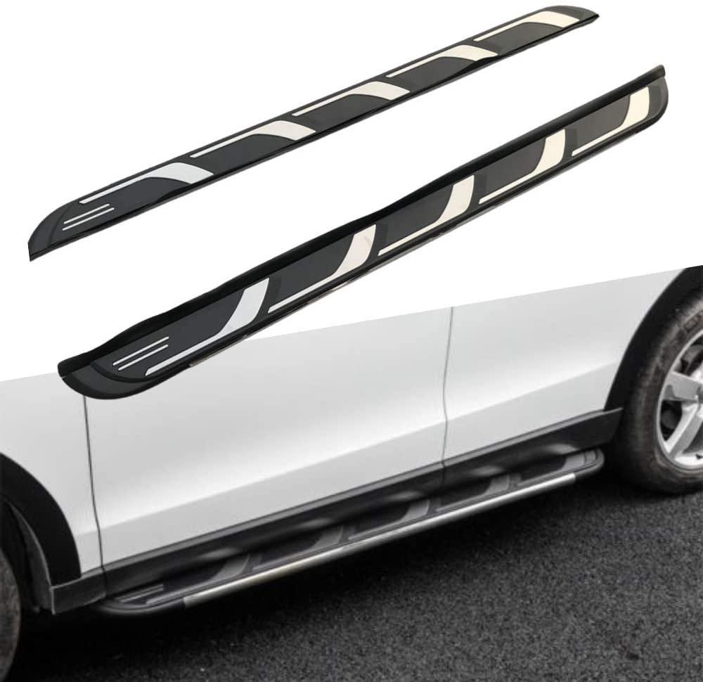 2 шт., для Audi- Q7 2016, 2017, 2018, 2019, алюминиевые фиксированные двери, ходовые доски, боковая ступенька, защитная платформа Nerf-черный