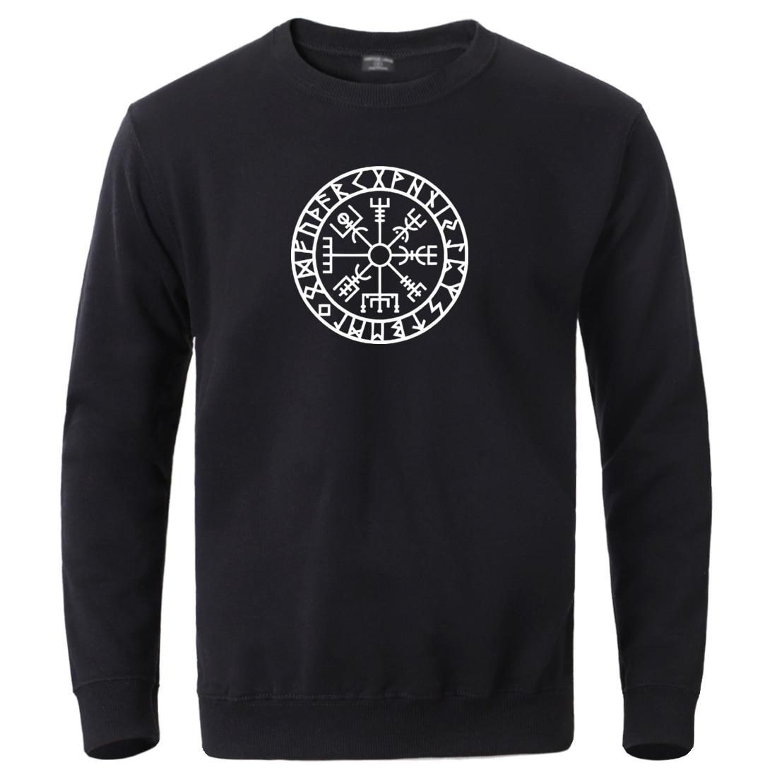 Viking Compass Sons Of Anarchy Streetwear Hoodies Mens 2020 Male Winter Autumn Fleece Gone To Valhalla Sportswear Crewneck Tops