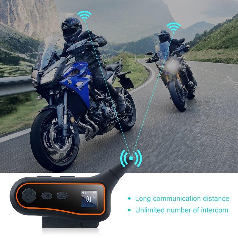 1PC Motorcycle Helmet Bluetooth Headset Intercom 3000M Wireless Intercomunicador BT Interphone Universal For Open Face Helmet