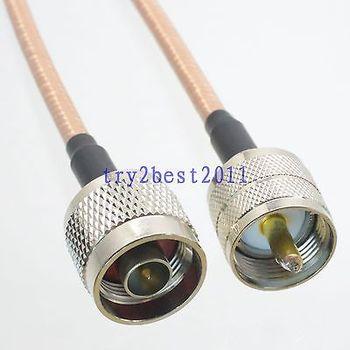 DHL/EMS в общей сложности 20 блоков RG142 N штифт UHF PL259 штифт прямой RF гибкий соединительный кабель 8 дюймов-C1