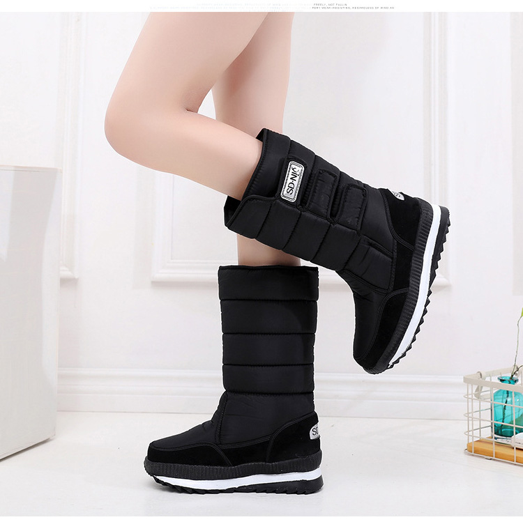 Fashion Women Boots Snow Boots Women Booties Mid calf Boot Warm Fur Female Winter Boots Platform Winter Shoes Bota Women Shoes in Mid Calf Boots from Shoes