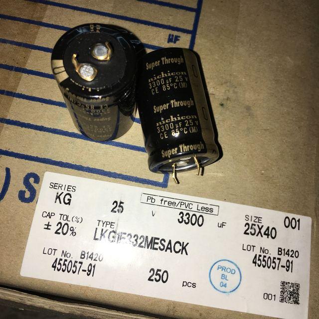 2pcs/lot Original Japanese Nichicon KG Super Through series fever capacitor audio aluminum electrolytic capacitor free shipping 5
