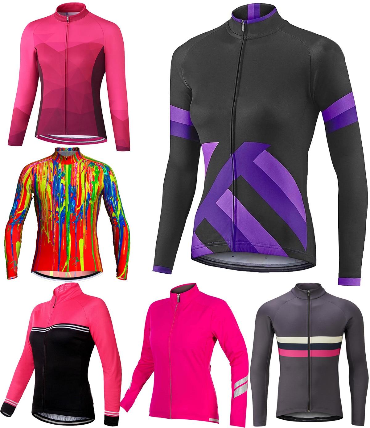 Josemx mulheres manga longa camisa de ciclismo bicicleta roupas mtb bib esporte camisa roxa motocross montanha estrada apertado superior jaqueta