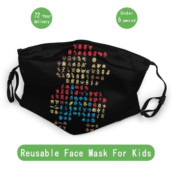 Super Mario 30 Years Modern Kids Non-Disposable Mouth Face Mask Anti Dust Mask Protection Cover Respirator Muffle