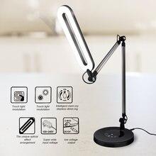 Черная Светодиодная настольная лампа 10 Вт сенсорный диммер