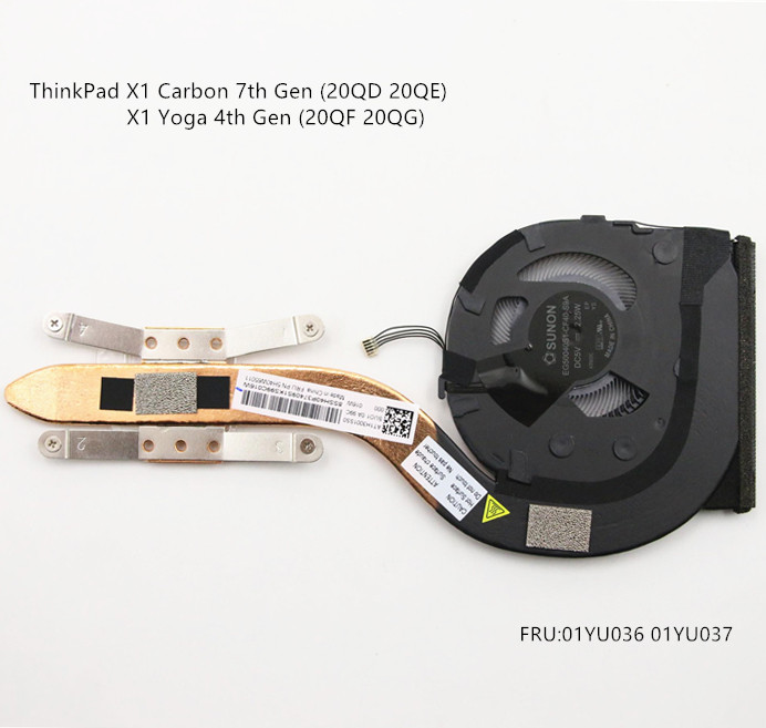 New For 2016 Lenovo Thinkpad X1 Yoga X1 Carbon 4th CPU Cooling Fan W// Heatsink