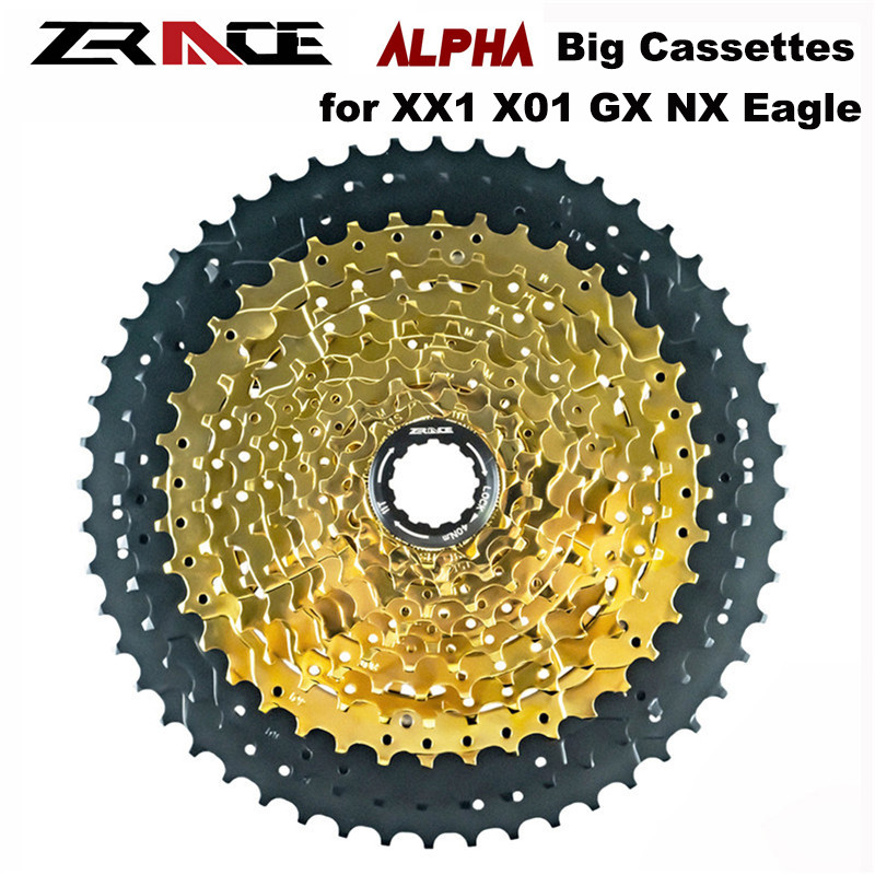 ZRACE Alpha 10s 11s 12s Light Weight MTB Bike Cassettes 46T 50T 52T 12 Speed Bicycle Freewheel for M9100 / XX1 X01 GX NX Eagle